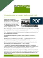 Crowdfunding per le Piccole e Medie Imprese (PMI)