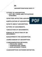 Adsorption Notes