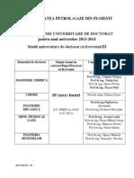 Doctorat Admitere 2013-2014 Anunt General