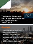 Thailand Performances & Legal Reform