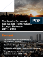 Thailand Performances & Legal Reform