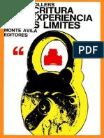 (L) Sollers, Philippe - La escritura y la experiencia de los lÝmites