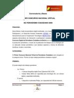 Convocatoria y Bases I Concurso de Periodismo