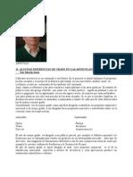 ALGUNAS DIFERENCIAS DE GRADO EN LAS ARTES PLASTICAS
