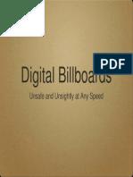 Effects of Digital Billboard