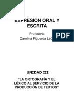 EXPRESIÓN ORAL Y ESCRITA unidad 3