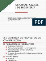 3. Gestion de Obras Civiles