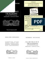 Nietzsche- Narodziny Tragedii