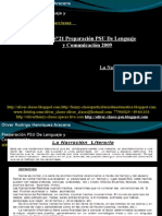 Presentación N°21 PSU De Lenguaje y Comunicación - La Narración Literaria
