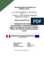 Construcción del sistema desague cc,pp.Pinaya 1