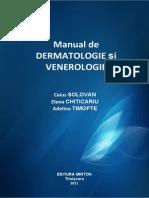 Manual de Dermatologie Si Venerologie - Solovan