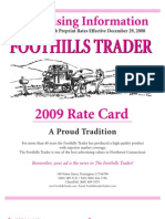 Foothills Trader Ratecard
