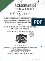 Martin Eclaircissemens litteraires 1736