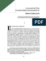 Bolivar Echeverria _ Muerte de Dios y Modernidad Como Decadencia