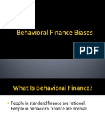 Behavioral Finance Biases