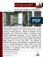 154 Bsu Best Practice Alert - Preventing Falling Objects & Materials