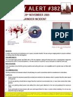 20091129 - 382 - Bsu Safety Alert - Fatal Grinder Incident