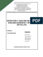 Deteccion y Analisis Modos y Efectos Fallas