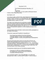 Letter Re DEP Hearing