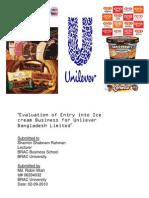 Ulilever Ice report