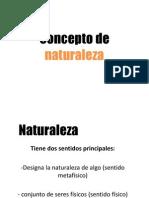 3. Concepto de Naturaleza