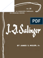 James E. Miller Jr. J.D. Salinger University of Minnesota Pamphlets on American Writers 1968