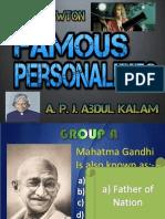NajeedKhan Famous Personalities Quiz