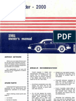 Fiat Spider 2000 Owners Manual