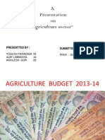 Agriculture Budget 2013-14