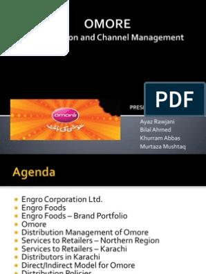 OMORE Distribution Channel Management | Logistics | Retail