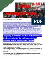 Noticias Uruguayas sábado 14 de diciembre del 2013