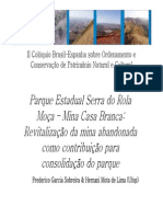 5 Parque Estadual Serra Do Rola Moca-Mina Casa Branca- Revitalizacao Da Mina Abandonada Como Contribuicao Para Consolidacao Do Parque