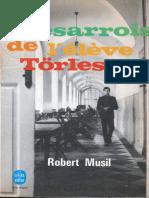 Les Desarrois de l'Eleve Torless - Robert MUSIL