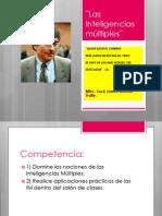 Las Inteligencias múltiples¨. Mtro. José Jaime Botello Valle.