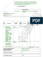 Proforma Invoice Non Commercial Shipments Sample