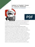 """""""De los 'Grundisse' al 'CapitalTemas Multilineales Kevin B. Anderson"""