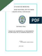 Informe Final Adherencia Diabetes Tucuman