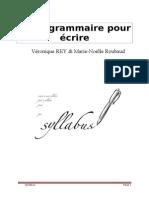 Petite Grammaire Du 1 Oct Pour Ecrire