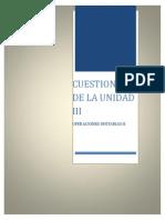 Cuestionario Unidad III