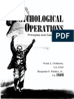 Psyops principles and Case studies