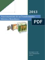 Transformador electrico monofásico