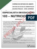 Educa o AP Ns 103 Especialista Em Educa o Nutricionista