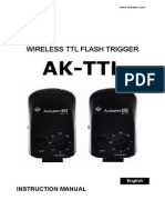 Aokatec AK-TTL Wireless TTL Flash Trigger Instruction