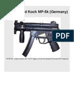 Heckler Und Koch MP-5k submachine gun (Germany)