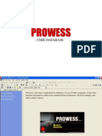 Prowess User Manual