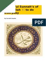 Beautiful Sunnah s of Rasulallah to Do Everyday
