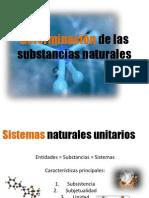 6. Determinación de las substancias naturales