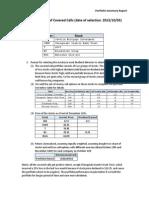 portfolio report sample