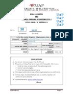 Solucionario Del Examen Parcial de Mat 1 Sec 2