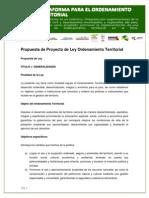 C. Propuesta de Ley Ordenamiento Territorial